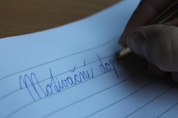 Jak napsat motivační dopis